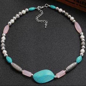 Sterling Silver Turquoise Necklace             A12